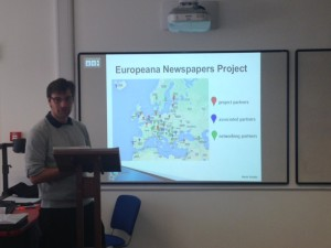 The Europeana Newspaper Project at #Graines2015 Unconference